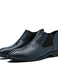 cheap -Men's Comfort Shoes PU Fall & Winter Loafers & Slip-Ons Black / Brown / Blue