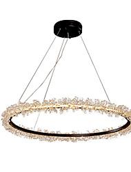 cheap -1-Light Lightinthebox 60 cm Creative / LED Chandelier Glass Circle / Crystal Black Artistic / Nordic Style 110-120V / 220-240V