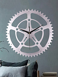 cheap -Metal European Retro Gear Wall Clock Fashion Creative Gear Wall Clocks Hanging Watch Art Personality Home Decor Modern Design