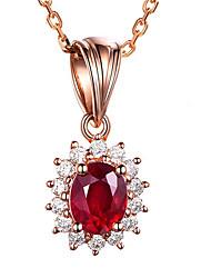 Недорогие -циркон красный синий камень ожерелья&усилитель; кулоны для женщин розовое золото серебристый цвет длинная цепь женский кулон ожерелье ювелирные изделия