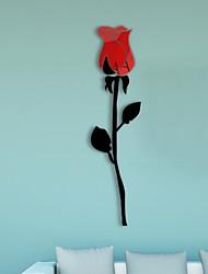 cheap -Wall Decoration Rose Flower Acrylic 3D Wall Sticker