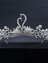 cheap -Alloy Tiaras with Imitation Pearl 1 Piece Wedding / Special Occasion Headpiece