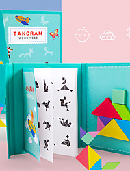 cheap -Tangram Building Blocks Jigsaw Puzzle Magnetic Kid's Unisex Boys' Girls' Toy Gift / Wooden Puzzle