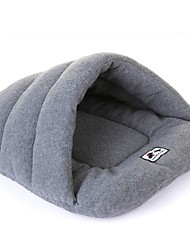 cheap -Dog Rabbits Cat Bed Sleeping Bag Cuddle Cave Bed Mats & Pads Plush Fabric Plush Solid Colored Red Blue Gray