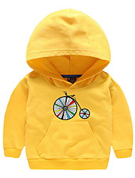 cheap -Kids Girls' Basic Color Block Long Sleeve Hoodie & Sweatshirt Yellow