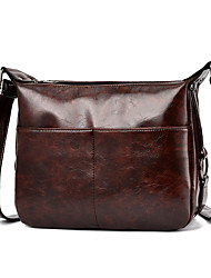 cheap -Women's Zipper Faux Leather / PU Crossbody Bag Solid Color Black / Wine / Dark Gray