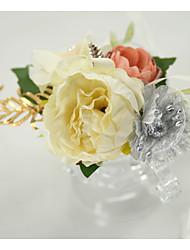 Недорогие -Свадебные цветы Букетик на запястье Свадебные прием / День рождения Металл / Ткань 0-20cm