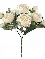 abordables -simulation pivoine fleur décoration de la maison arrangement de fleurs mariage bouquet de mariée décoration photographie bricolage 1 bâton