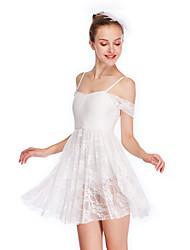 cheap -Ballet Dresses Girls' Performance Lace / Lycra Lace / Ruche Cap Sleeve High Dress