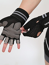 cheap -Workout Gloves Weight Lifting Gloves Sports Silicon Nylon Gym Workout Weightlifting Bodybuilding Built-In Wrist Wraps Durable Wrist Support Full Palm Protection & Extra Grip Breathable Support For