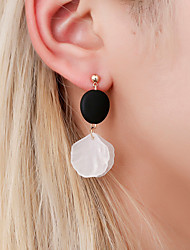 cheap -Women's Ear Piercing Clip on Earring Ear Cuff Cameo Shell Wood Earrings Jewelry Gold For Anniversary Prom Holiday Bar Festival