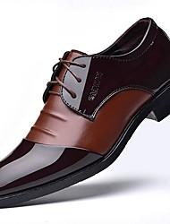 baratos -Homens Sapatos formais Couro Ecológico Primavera Oxfords Preto / Marron
