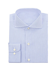 cheap -Blue Pencil Stripe Dress Shirt