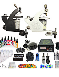 cheap -BaseKey Professional Tattoo Kit Tattoo Machine - 2 pcs Tattoo Machines, Professional Aluminum Alloy 19 W 2 alloy machine liner & shader