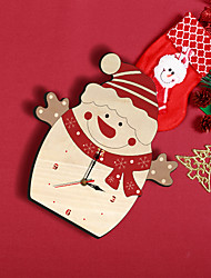 cheap -New product new Christmas home decoration Snowman wall clock creative hot sale kindergarten children's clock factory direct sale
