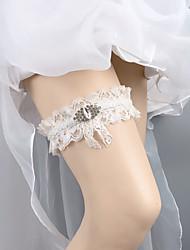 cheap -Lace Wedding Wedding Garter With Crystals / Rhinestones Garters Wedding / Festival