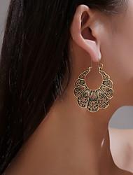 cheap -Women's Ear Piercing Hoop Earrings Earrings Hollow Out Flower Earrings Jewelry Gold / Silver For Gift Carnival Holiday Club Bar