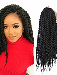 cheap -Curly Dry Twist Braids Dreadlocks / Faux Locs Crochet Hair Braids Synthetic Hair 100% kanekalon hair Braids 22inch Braiding Hair 1 Piece Odor Free Heat Resistant