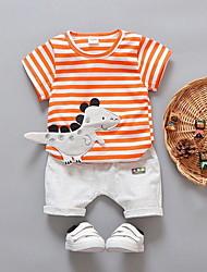 baratos -bebê Para Meninos Moda de Rua Estampado Manga Longa Padrão Conjunto Preto