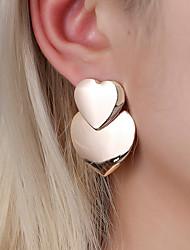 cheap -Women's Stud Earrings Hoop Earrings Earrings Classic Heart Earrings Jewelry Gold / White / Gold For Engagement Work Bar Promise Festival