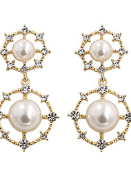 cheap -Women's Drop Earrings Earrings Dangle Earrings Geometrical Precious Vintage Holiday Romantic Cute Elegant Imitation Pearl Earrings Jewelry Gold / White For Wedding Engagement Gift Daily Work 1 Pair