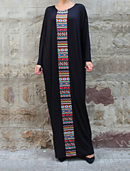 cheap -Women's Maxi Black Dress Abaya Solid Colored S M