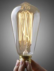 cheap -1pc 40W E26 / E27 ST64 Warm White 2700k Retro Dimmable Decorative Incandescent Vintage Edison Light Bulb 220-240V/110-120V