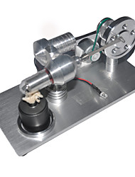 Недорогие -LJKGDQ Двигатель Стирлинга Модель двигателя Обучающая игрушка Игрушка STEAM LED Своими руками Металл Алюминий Мальчики Девочки Игрушки Подарок 1 pcs