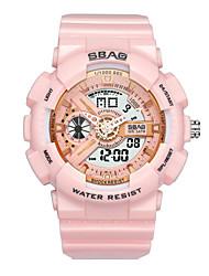 Недорогие -Жен. электронные часы Мода Цветной Черный Белый Розовый ТПУ Японский Японский кварц Черный Белый Розовый Защита от влаги ЖК экран Ударопрочный 30 m 1 ед. Аналого-цифровые Два года Срок службы батареи