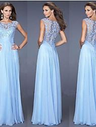 cheap -A-Line Spaghetti Strap Floor Length Chiffon Bridesmaid Dress with Pleats