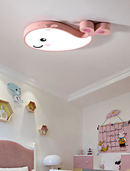 cheap -1-Light Led Ceiling Lamp Simple Modern Bedroom Lamp Whale Children Room Lamp Creative Cartoon Room Eye Protection Lamp 30W