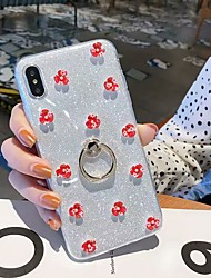 cheap -Apple Suitable case For 11Pro Max Glitter Ring Holder Mobile Phone Case XS Max Floret 6/7 / 8Plus Silicone Protective Case
