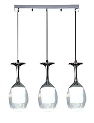 cheap -3-Light 7 cm Mini Style Chandelier Aluminum Mini Electroplated Artistic / Modern 110-120V / 220-240V