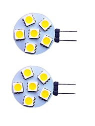 cheap -2pcs 1 W LED Bi-pin Lights 120 lm G4 6 LED Beads SMD 5050 Warm White White 12 V