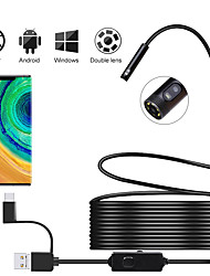 cheap -Newest Android Inspection Camera with Dual Lens Endoscope Camera 720P HD 2.0MP 8mm Semi-rigid Snake Camera For OTG Android PC