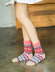 abordables -Chaussettes Chaud - Multicolore Femme Violet Rose Claire Taille unique