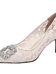 abordables -Femme Chaussures de mariage Talon Aiguille Bout pointu Strass Maille Automne hiver Blanche / Rouge / Mariage