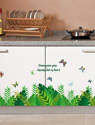 Недорогие -sk7128 зеленый лист завод плинтус спальня коридор кабинет гостиная фон наклейка