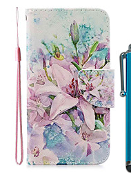 cheap -Case For Apple iPhone 11 / iPhone 11 Pro / iPhone 11 Pro Max Wallet / Card Holder / with Stand Full Body Cases Lily PU Leather / TPU for iPhone 7 / 7 Plus / 8 / 8 Plus / X / XS / XR / Xs Max