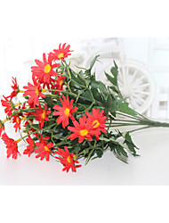 cheap -9 Branches 24 Artificial Flowers Small Daisies Interior Decoration Flower Arrangement Photography 1 Stick
