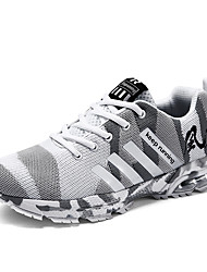 cheap -Men's Comfort Shoes Tissage Volant Spring & Summer / Fall & Winter Classic / Casual Athletic Shoes Running Shoes Breathable Camouflage Black / Light Brown / White / Slogan