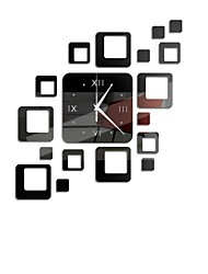 cheap -Acrylic Clock and Mirror Style Removable Decal Vinyl Art Wall Sticker Home Decor