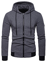 cheap -Men's Casual / Basic Hoodie - Solid Colored Black US32 / UK32 / EU40