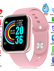 cheap -Smartwatch Digital Modern Style Sporty Silicone 30 m Water Resistant / Waterproof Heart Rate Monitor Bluetooth Digital Casual Outdoor - Black Pink Silver / Black