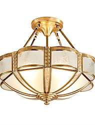 cheap -Lightinthebox 4-Light 46 cm Flush Mount Lights Copper Glass Empire Traditional / Classic / Country 220-240V