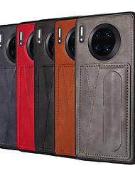 cheap -Case For Huawei Huawei Nova 4 /nova 4e /P30/P30 Pro/P30 lite/Nova3/Nova3i/mate30/mate30pro/mate20/mate20pro Card Holder / Dustproof / with Stand Back Cover Solid Colored PU Leather / TPU