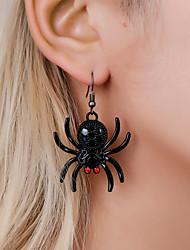cheap -Women's Drop Earrings Hoop Earrings Earrings Engraved Spiders Earrings Jewelry Black For Halloween Gift Carnival Club Bar