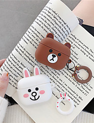 cheap -3D Earphone Case For Airpods Pro Case Silicone Butt Cat Cartoon Headphone/Earpods Cover For Apple Air pods Pro 3 Case Keychain