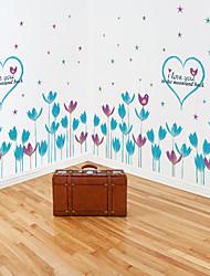 Недорогие -sk9163 синий тюльпан цветок плинтус детская комната вход спальня гостиная фон украшение
