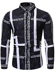 cheap -Men's Daily Shirt - Tie Dye Black / Long Sleeve